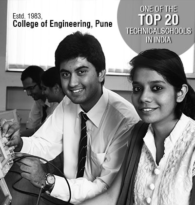 One of the Top 20 technical schools in India, College of Engineering, Pune